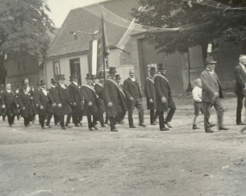 Sängerfest (Männerchor) mit Umzug 1932 oder 1933